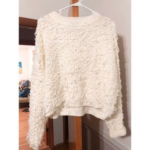 boutique textured loop sweater
